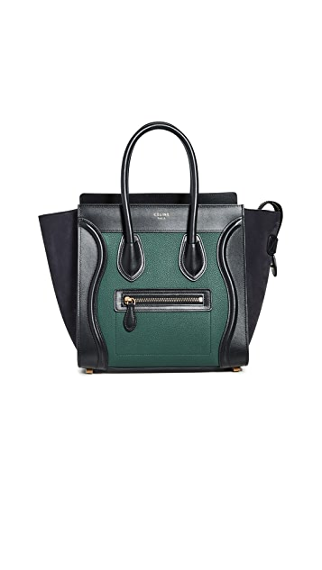 What Goes Around Comes Around Celine Multi Drummed Luggage Micro Bag
