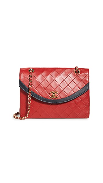 What Goes Around Comes Around Chanel Red Round Flap Bag
