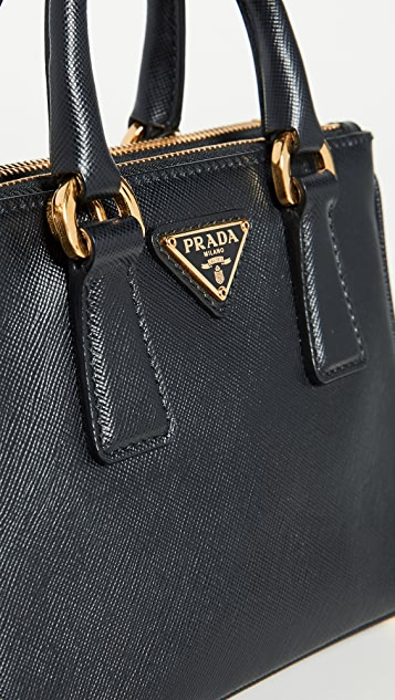 What Goes Around Comes Around Prada Black Exec Tote Micro Bag