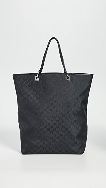 What Goes Around Comes Around Gucci Black Nylon Tote Bag
