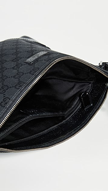 What Goes Around Comes Around Gucci Black Canvas Shoulder Bag
