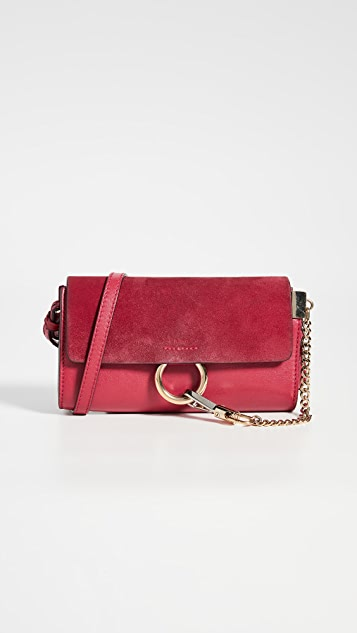 What Goes Around Comes Around Chloe Red Leather Faye Bag