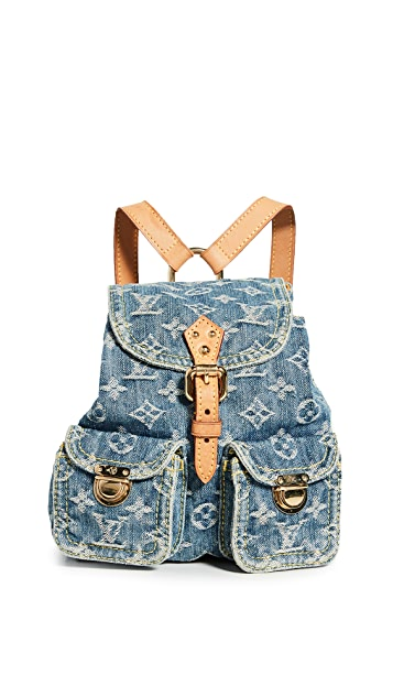 What Goes Around Comes Around Louis Vuitton Blue Denim Sac A Dos