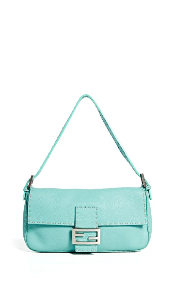 What Goes Around Comes Around Fendi Blue Selleria Baguette