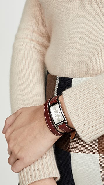 What Goes Around Comes Around Hermes Brown Cape Cod Double Watch