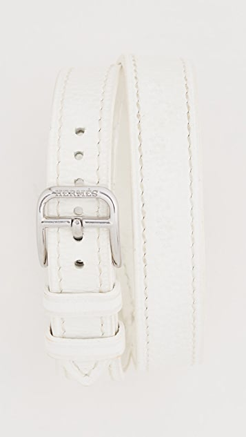 What Goes Around Comes Around Hermes White Cape Cod Double Watch