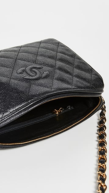 What Goes Around Comes Around Chanel Black Diamond CC Camera Bag