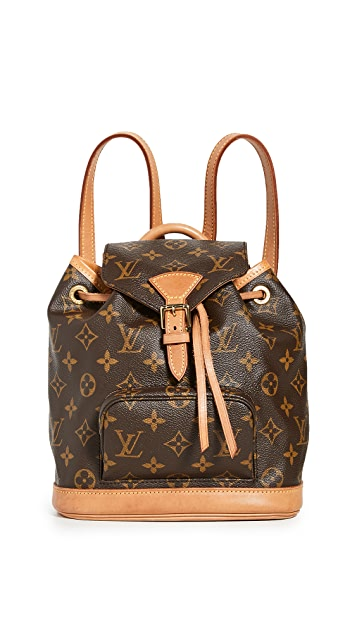 What Goes Around Comes Around LV Monogram Montsouris 交织字母双肩包