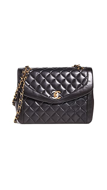 What Goes Around Comes Around Chanel Black Lamb Shoulder Bag