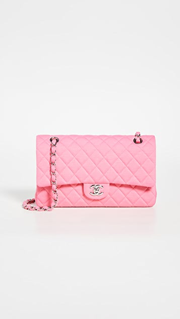 What Goes Around Comes Around Chanel Pink Cotton Shoulder Bag