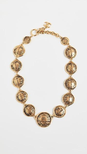 What Goes Around Comes Around Короткое ожерелье Chanel Cambon
