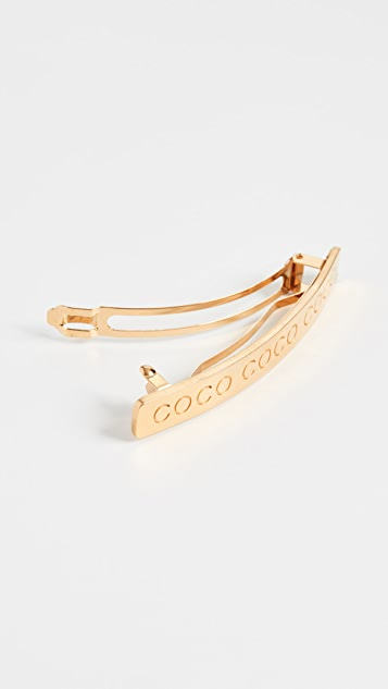 What Goes Around Comes Around Chanel Gold Coco Barrette
