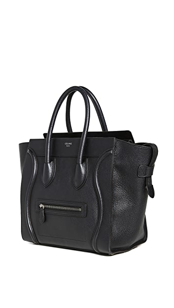 What Goes Around Comes Around Небольшая черная дорожная сумка Celine