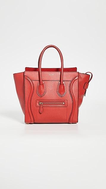 What Goes Around Comes Around Миниатюрная красная дорожная сумка Celine
