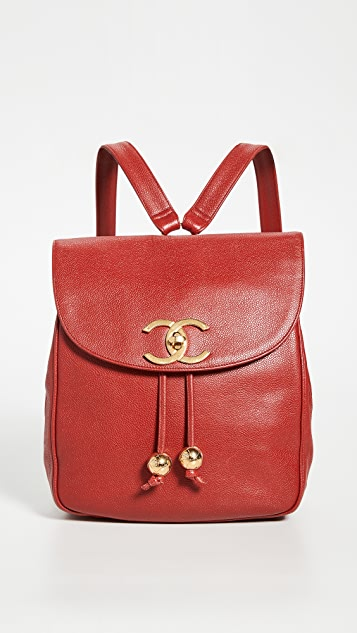 What Goes Around Comes Around Chanel Red Caviar Backpack