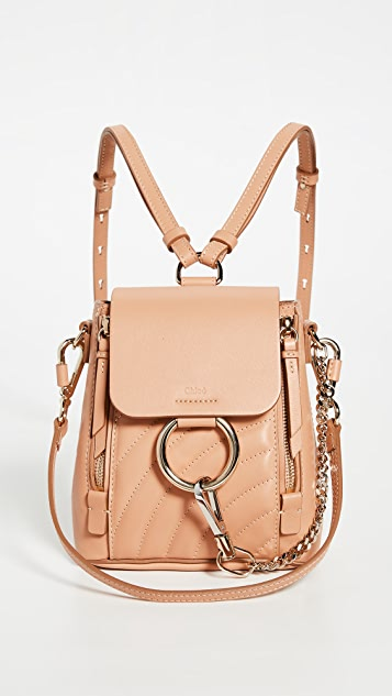 What Goes Around Comes Around Chloe Beige Leather Faye 迷你双肩包