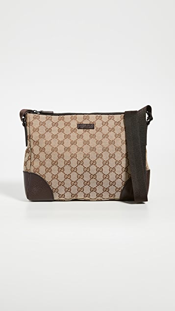 What Goes Around Comes Around Gucci Brown GG Shoulder Bag