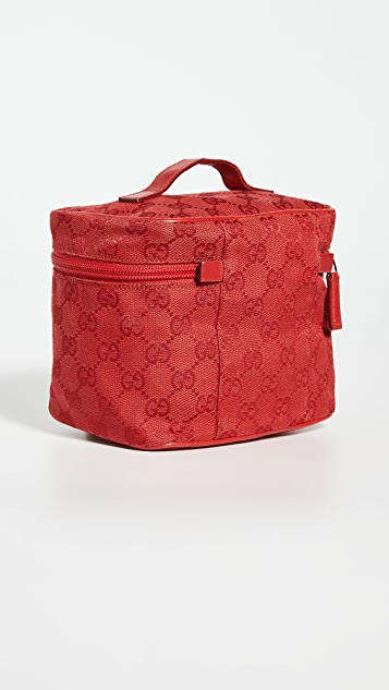 What Goes Around Comes Around Gucci Red Canvas Pouch