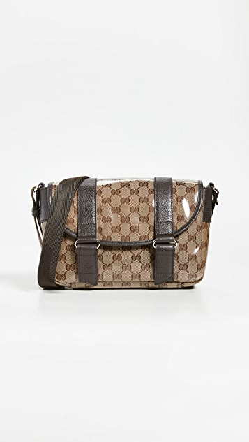 What Goes Around Comes Around Gucci 棕色信使包