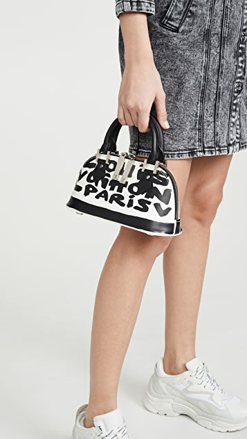 What Goes Around Comes Around LV Black Sprouse Alma Bag