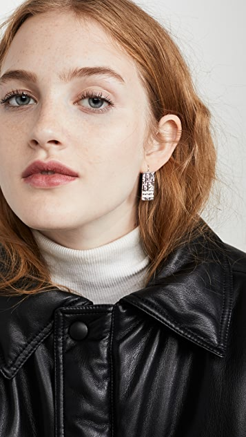What Goes Around Comes Around Dior Pink Enamel Earrings