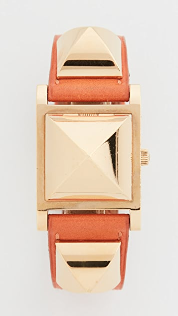 What Goes Around Comes Around Hermes Orange/Gold Medor Watch 23mm