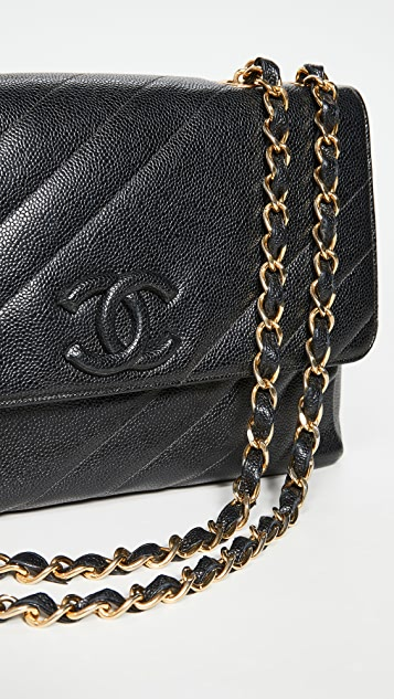 What Goes Around Comes Around Chanel 黑色斜裁绗缝包