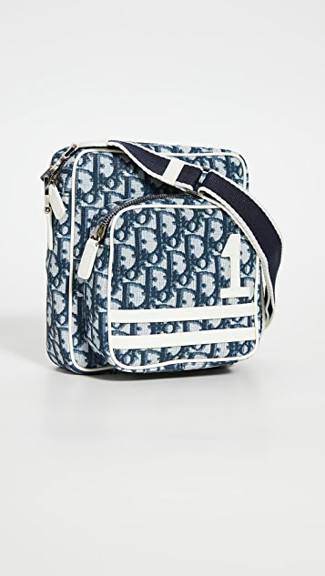 What Goes Around Comes Around Dior Navy Messenger Bag