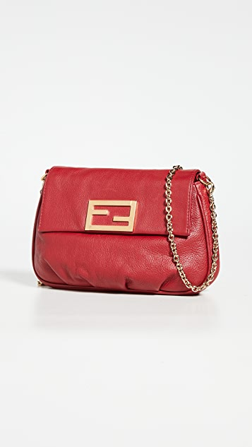 What Goes Around Comes Around Fendi Red Leather Fendista Bag