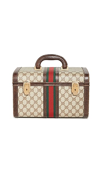 What Goes Around Comes Around Gucci Brown Canvas Vanity