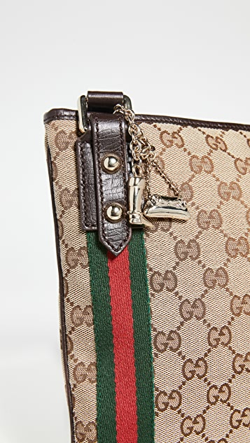 What Goes Around Comes Around Gucci Brown Jolicoeur Messenger Bag