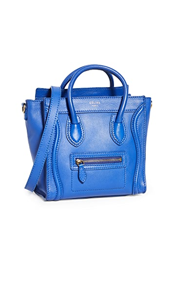 What Goes Around Comes Around Celine Blue Smooth Luggage Nano