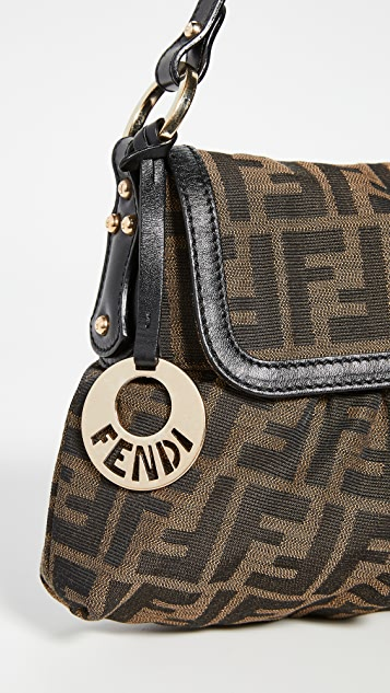 What Goes Around Comes Around Fendi Brown Zucca Chef Small Bag