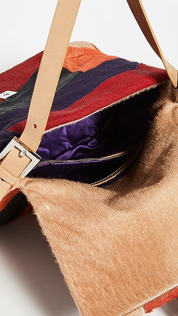 What Goes Around Comes Around Разноцветная сумка Fendi Mama из кожи пони