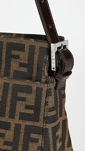 What Goes Around Comes Around Fendi Brown Zucca Shoulder Bag