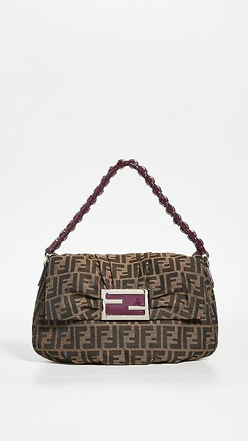 What Goes Around Comes Around Fendi Purple Zucca Mia Shoulder Bag