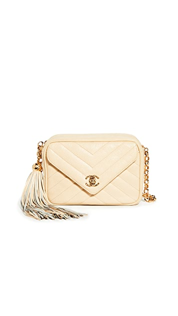 What Goes Around Comes Around Chanel Beige Camera Bag Mini