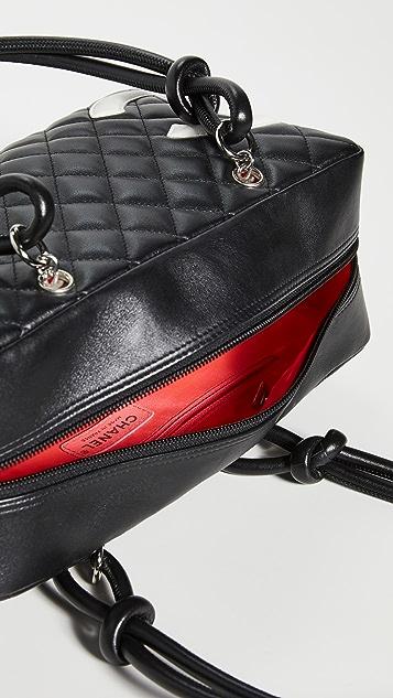 What Goes Around Comes Around Черная сумка Cambon Bowler от Chanel