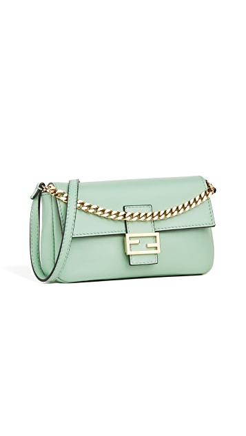 What Goes Around Comes Around Fendi Green Nappa Baguette Mirco Bag
