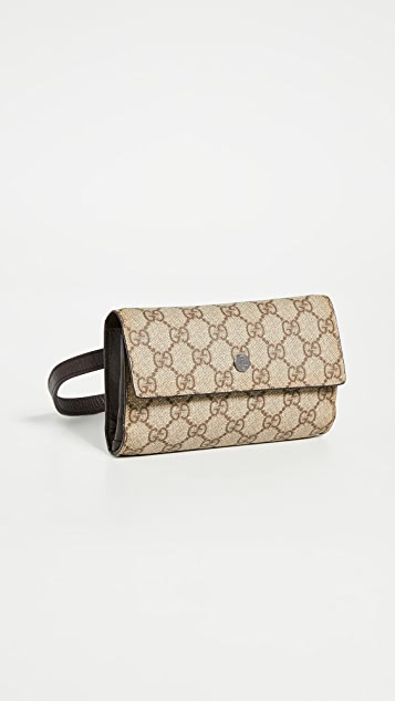 What Goes Around Comes Around Gucci 棕色腰包