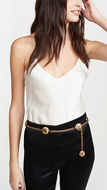 What Goes Around Comes Around Chanel Gold Sunburst Chain Belt