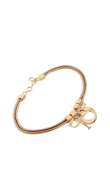 What Goes Around Comes Around Dior Gold Metal 2 Chain Belt