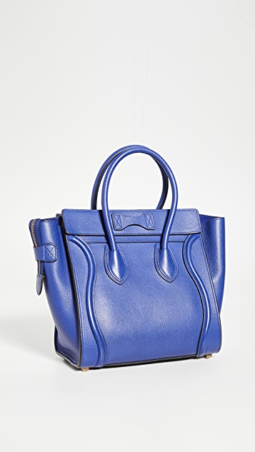 What Goes Around Comes Around Celine Blue Luggage Micro 包