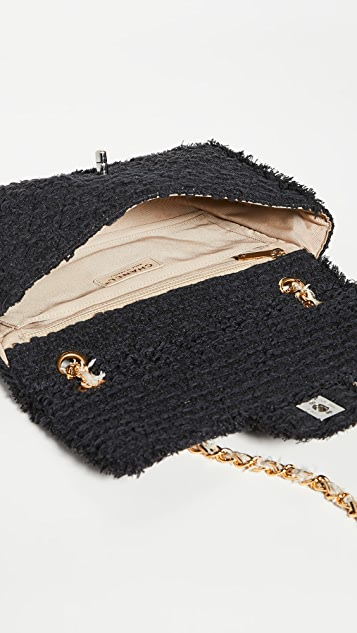 What Goes Around Comes Around Chanel Black Tweed Half Flap Bag