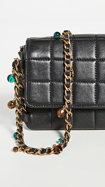 What Goes Around Comes Around Chanel Black Bead Flap Bag