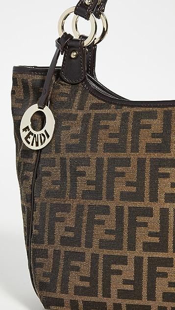 What Goes Around Comes Around Коричневая сумка на ремне Zucca от Fendi