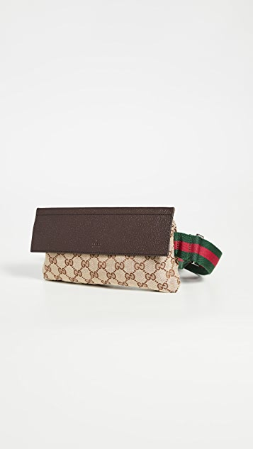 What Goes Around Comes Around Gucci Brown Sling Waistpouch