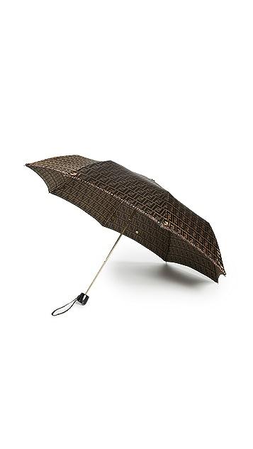 What Goes Around Comes Around Fendi Brown Nylon Umbrella