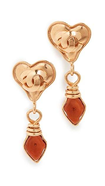What Goes Around Comes Around Chanel Heart Earrings