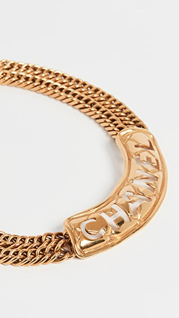 What Goes Around Comes Around Chanel Quilted Name 短项链